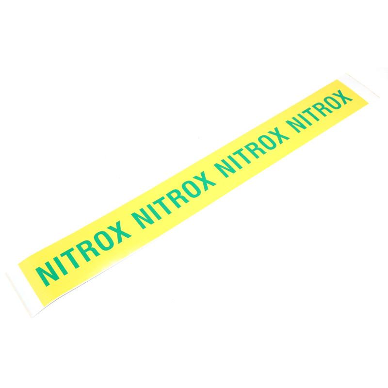 Autocollant NITROX pour Bouteille