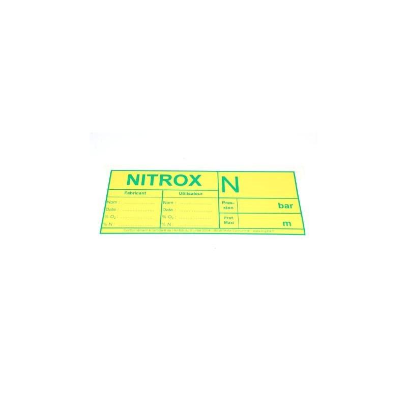 Autocollant NITROX Arrêté Ministériel