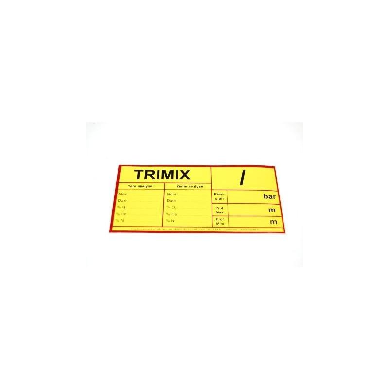 Autocollant TRIMIX Arrêté Ministériel