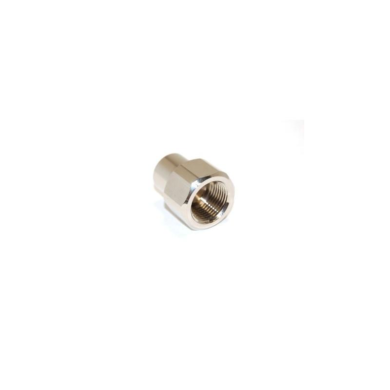 Adaptateur DIN 230 bar femelle - femelle 1/4 Gaz